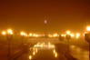 Foggy Night Frederick : Foggy Night at the Canal in Frederick Maryland